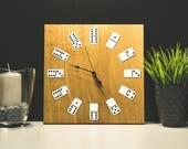 Große hölzerne Uhr, rustikale Wanduhr, einzigartige hölzerne Uhr, natürliches Holz Uhr, Wand-Dekor, Home Decor, aus Holz Uhr, große rustikale Uhr