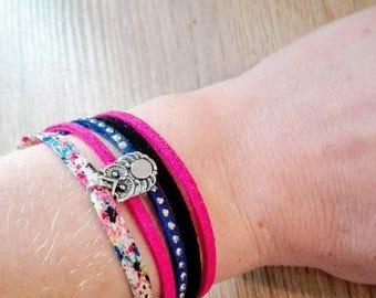 Artistik (multi strand bracelet pink/black/blue/liberty customizable charm trendy)