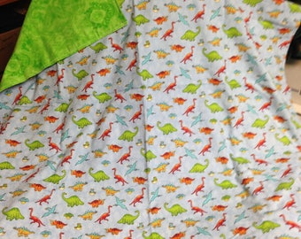 dinosaur flannel blanket