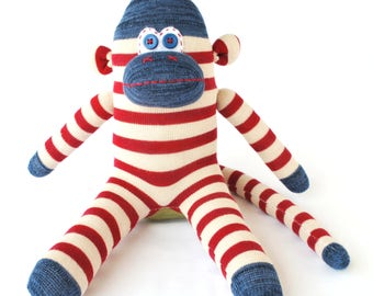 Sock Monkey Toy Doll - The George Monkey