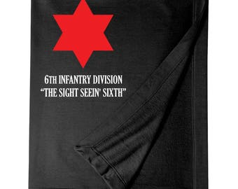 6th Infantry Division Embroidered Blanket-6188