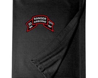 2/75th Ranger Battalion (Original Scroll)  Embroidered Blanket-3312