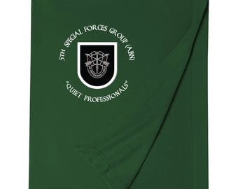 5th Special Forces Group Embroidered Blanket-3687