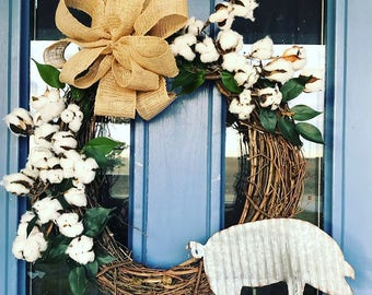Rustic Pig Wreath