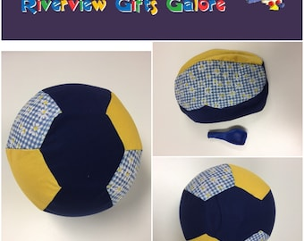 Balloon Ball Cover - Navy Yellow Daisy
