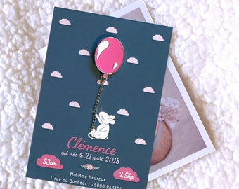 BALL ROSE PIN's - birth announcement