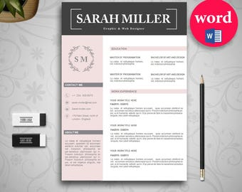 Resume Template Word Instant download CV template - Creative design with cover letter, references and multiple pages - curriculum vitae