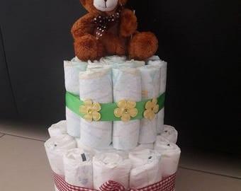 Diaper gift baby//cake//baby//diaper cake//Christening Gift
