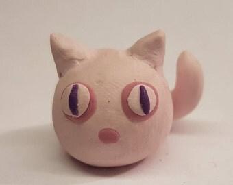Miniatue Pink FurBall Cat