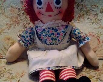 Vintage Raggedy Ann Doll