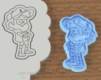 Dipper Pines | Gravity Falls cookie cutters | Gravity Falls journal | Gravity Falls book | Dipper Pines embroidery | Dipper journal