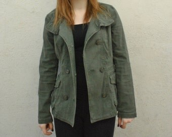 DIVIDE By H&M Women's Olive Green Pea Coat