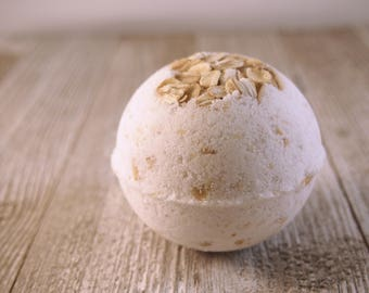 Oatmeal Bath Bomb, Coffee, Mother's Day, Birthday Gift, Bridesmaid Gift, Spa Gift for Her, Bath Fizzie, Fizzy