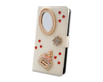 Valantine's Day Case Phone Luxury Rhinestone Crystal Bling Strass Flip Slot Cards Wallet LeatherJewelled Diamonds for many phone models