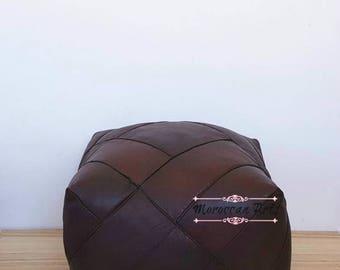 Moroccan Leather ottoman Pouf, pouf ottoman, 07