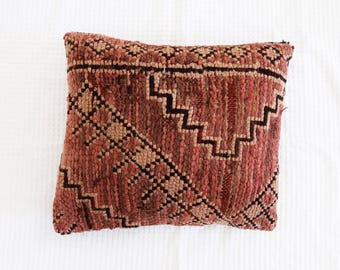 Blush Vintage Moroccan Pillow Cushion Cover Boujaad Kilim
