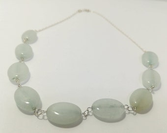 Chalcedony necklace and Sterling Silver 925