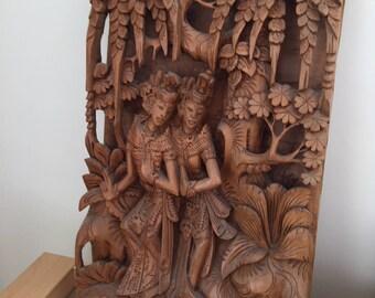 Wood Handicrafted Ramayana scene