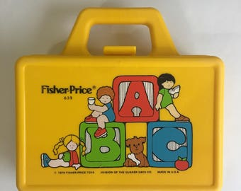 Vintage Fisher Price Yellow Lunch Box Quaker Oats 1979 Made in the USA