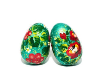 Easter wooden egg - Easter pysanky - Easter decoration - Handmade, hand painted easter wooden eggs - Easter basket - Easter gift idea