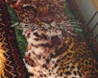 Leopard rug and wall art