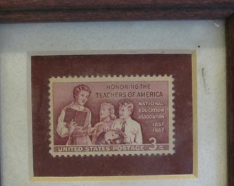 Honoring the teachers of america 3 cent stamp 1857-1957