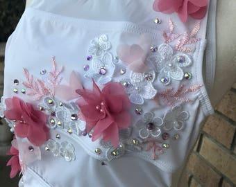 Swarovski & Floral Lyrical Dance Costume