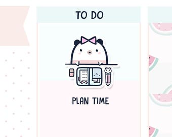 Planning Time Boo Bear - Planner Stickers    B04