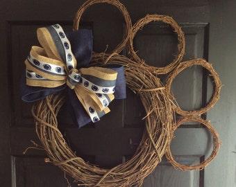 Penn State Paw Wreath