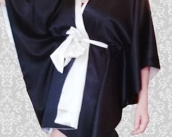"Kimono robe ""Idyll in Tahiti"""