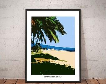 Leadbetter Beach Palm