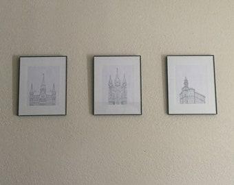 LDS Temple Sketch