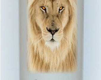 Jesus Christ is the Lion of Judah, Christian candle keepsakes for home or office, everlasting candle designs under the wax, handmade candles
