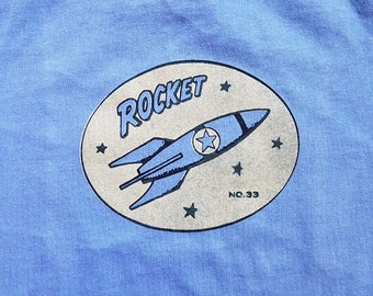 Rocket 2 Color Screen-Printed Toddler Tee