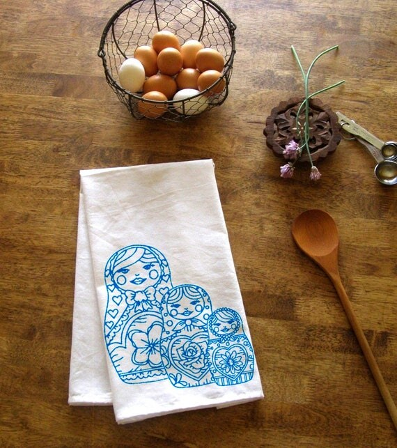 Christmas Kitchen Towels At Walmart: Nesting Dolls Towel Kitchen Dish Cloth Tea Towels CUTE