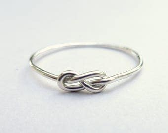 Infinity Ring - Silver Promise Ring - Love Knot Ring - Silver Knot Ring - Sterling Silver Ring - Eternity Ring - Friendship Ring Commitment