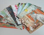 Art Postcards - Cute Bunny Rabbit Art Paintings by Nakisha