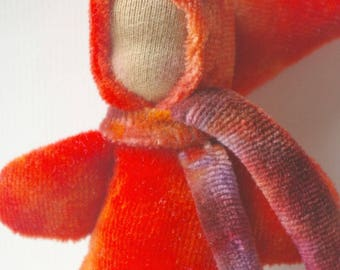"Pocket Doll Stocking Stuffer: Waldorf Pocket Gnome (Organic & Natural Toy, 5"" Soft Baby Doll)  Red Gnome"