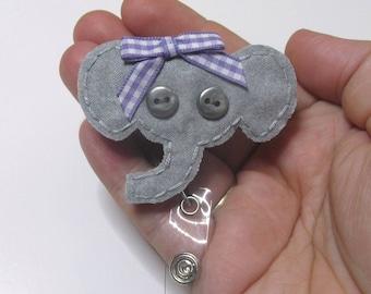 Elephant Badge Reel, Elephant Badge Card Holder, Elephant, ID Holder,Nursing Name Badge Holder, Badge Reel,Retractable, Ready to ship