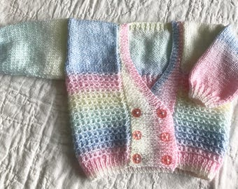 Double Breasted Baby Cardigan 3 - 6 Months