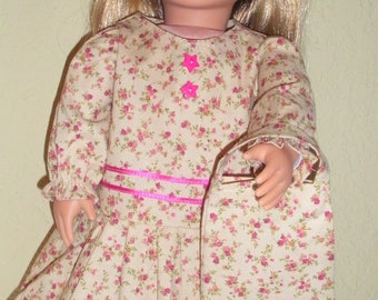 Beige drop-waist Dress---doll dress---doll clothing