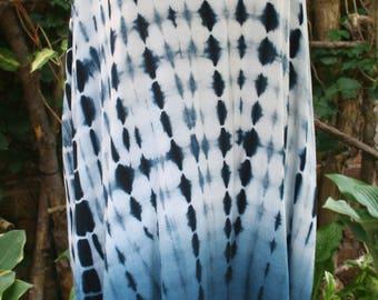 XL blue and white tie dye dress long shirt hippie