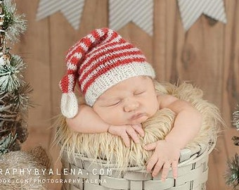 Knot Hat, Newborn Hat, Stirpe Hat, Elf Hat, Baby Hat, Newborn Photo Props, Buy 2 get 1 Free