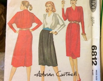 Vintage 70's Sewing Pattern McCall's 6812 Misses' Dress Bust 34 Size 12 Uncut Complete