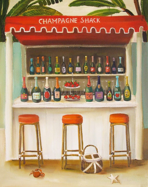 Champagne Shack. Art Print