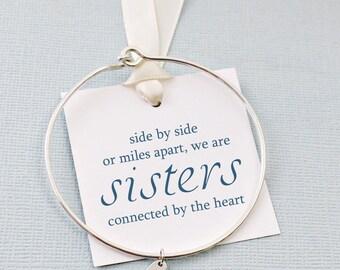 Gift for Sisters | Heart Bracelet, Bangles Band, Gift for Sister, Sister Bracelet,  Bangle, Gifts for Sisters, Sister Boho Gift | S04