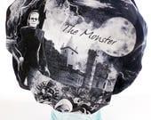 Shower Cap - Retro Horror Goth Classic Movie Monsters Dracula Frankenstein Bride Werewolf Mummy - Waterproof Bath and Beauty Hat