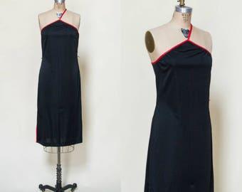 Vintage Black Dress --- 1970s Joy Stevens Dress