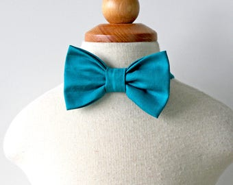 Teal Bow Tie, Turquoise Bow Tie, Boys Bow Tie, Toddler Bow Tie, Baby's Bow Tie, Bow Tie for Boy, Ring Bearer Bow Tie, Cotton Bow Tie for Boy