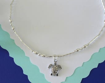Sea Turtle Anklet Silver Charm, Charm Anklet, Sterling Silver, Choose your Charm Anklet, Yoga, Nautical, Zen, USN, Beach, Vacation